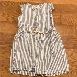 Zara sleeveless linen romper for girls